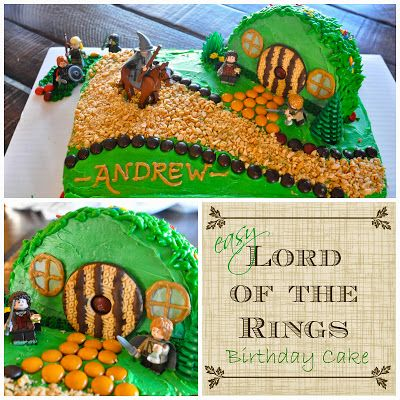 Wondrous A Lord Of The Rings Birthday For Andrew Hobbit Cake Birthday Birthday Cards Printable Giouspongecafe Filternl
