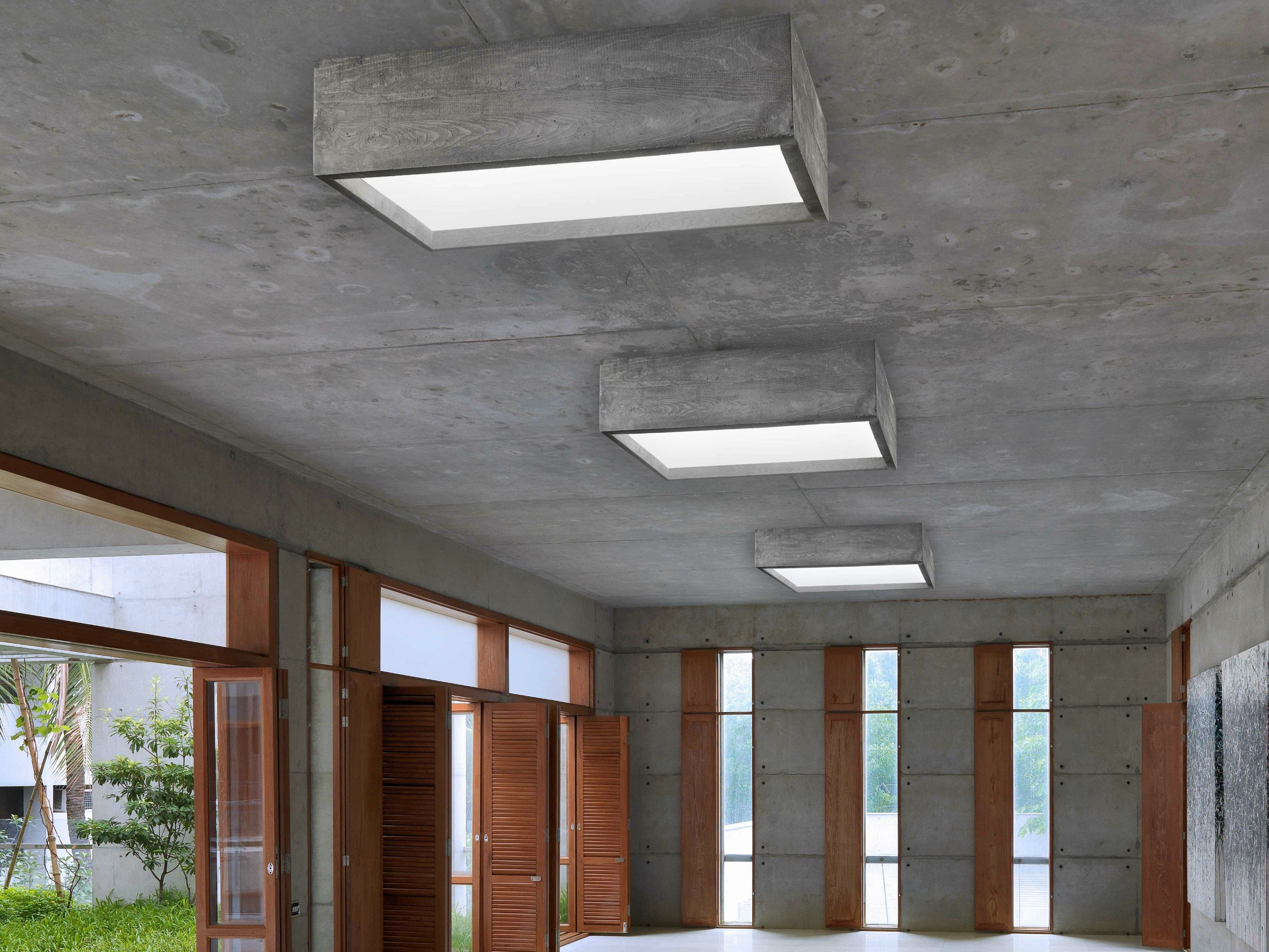Unique LED cement ceiling lamp CASSERO I-Cementi Collection by LUCIFERO'S  DQ59