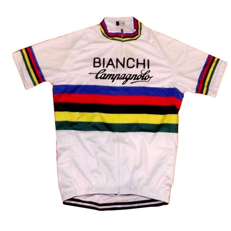 Retro Team Bianchi Campagnolo world Champion Cycling Jersey