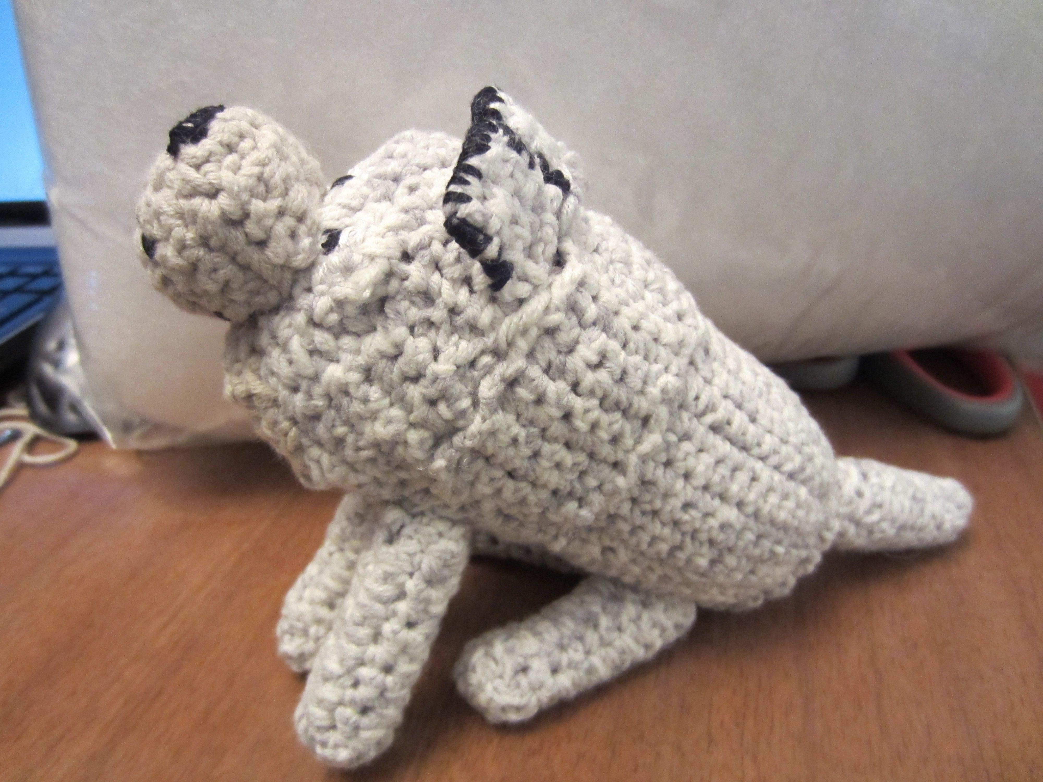 Minecraft crochet wolf