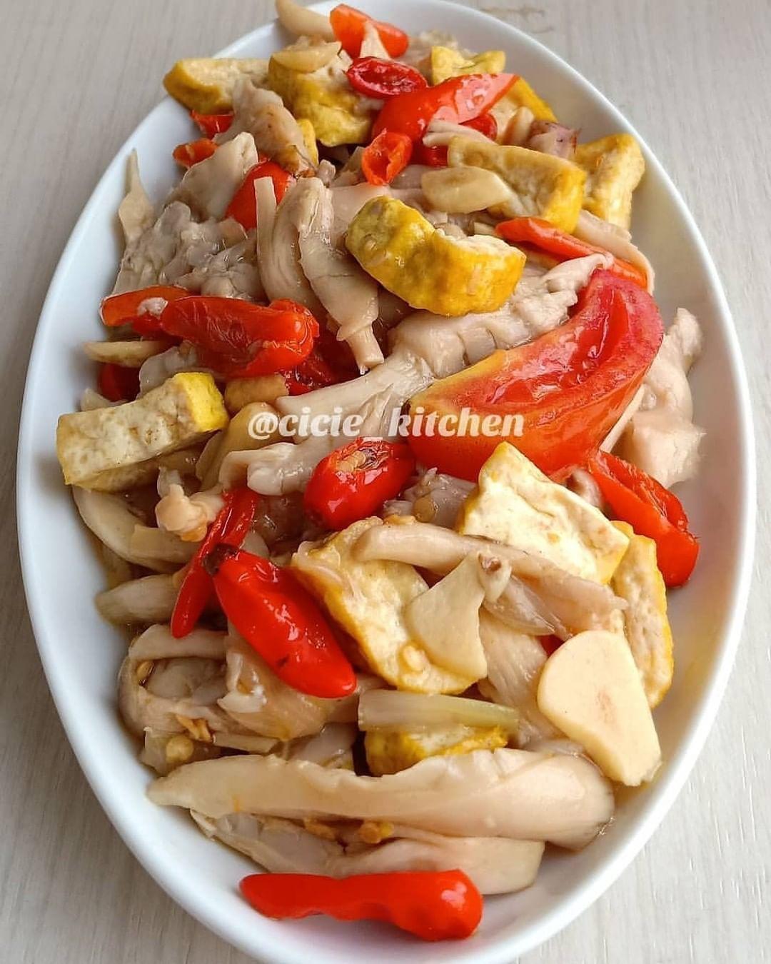 Tumis Tahu Jamur Tiram Resep Masakan Masakan Resep Makanan Cina
