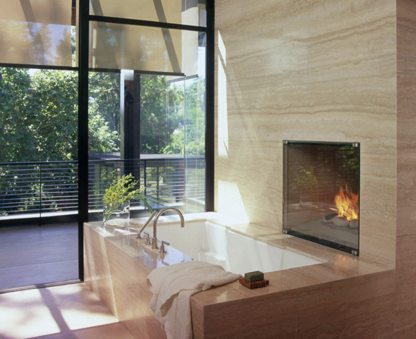 Great Master Bathrooms With Fire Bathroom Fireplace Modern Bathroom Modern Bathroom Design
