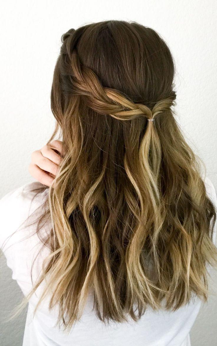 long hair with simple braid