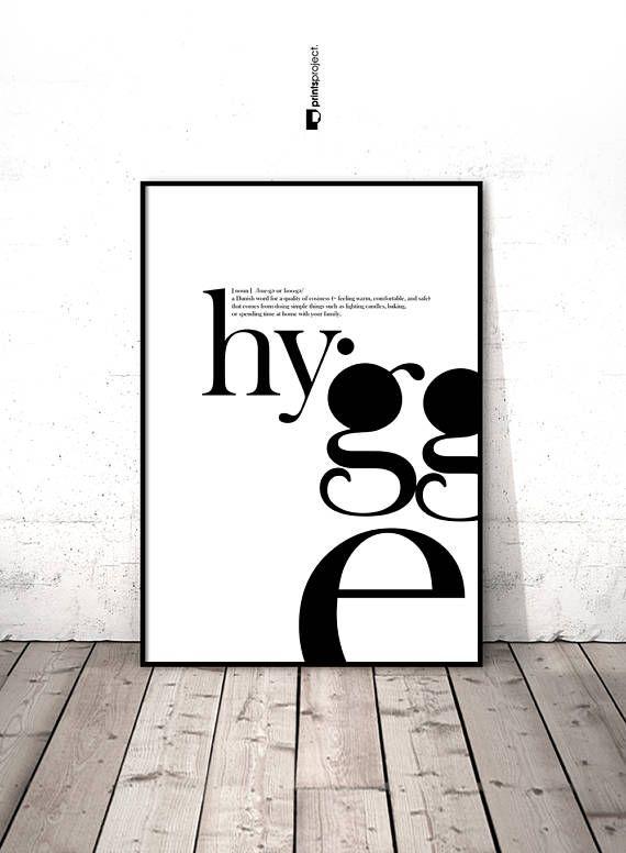 hygge print definition wall art entryway decor typography on hygge wall decor id=19770