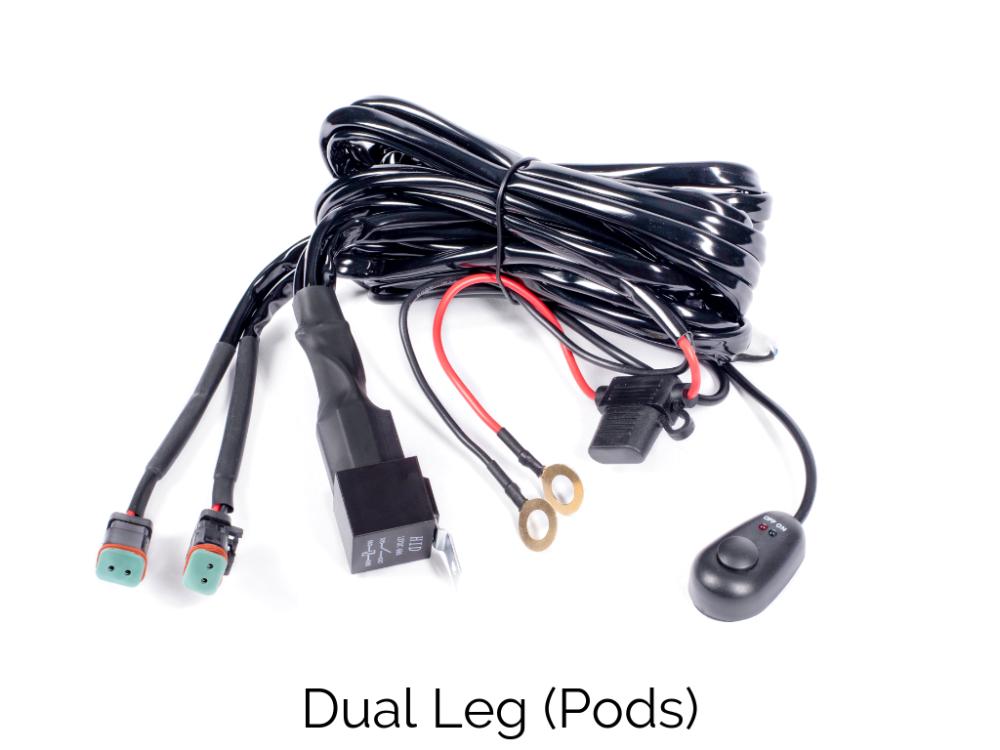 Cali Raised Wiring Harness Dual Leg Cali Raised Led Toyota Tacoma Low Profile