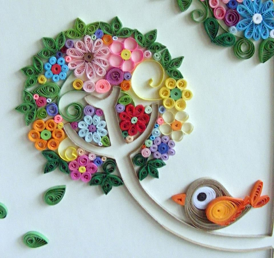 Paper spring arte by meire rodrigues https www for Quilling designs