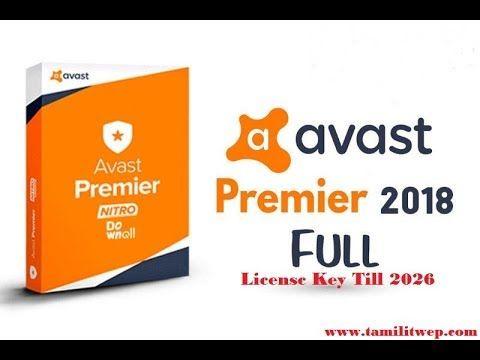 avast premier free license key 2018