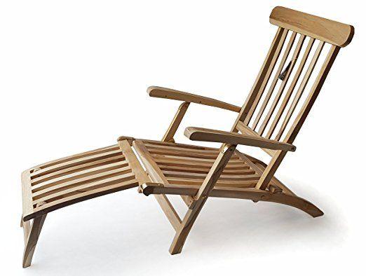 Ploss Teak Holz Deckchair Titanic Liege Stuhl Sonnenliege