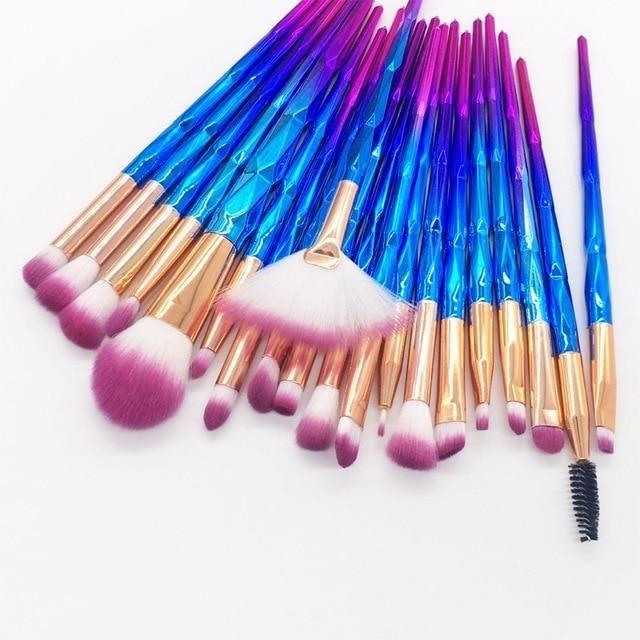 Photo of 20pcs Diamond Makeup Brush Set Eye Brush Beauty Make Up Tools – Pink
