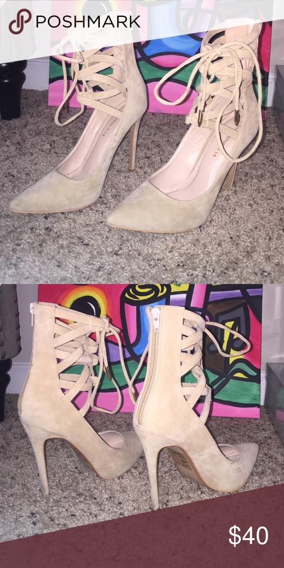 Strap Up Heels from KLOSET Envy KlosetEnvy via Instagram Shoes Heels