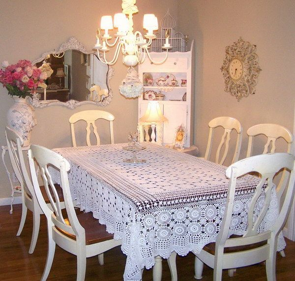 ❤¯`☆´¯shabby Chic¯`☆´¯°❤ …chic Dining Room With White Chic Entrancing Shabby Chic Dining Room Decor Design Decoration
