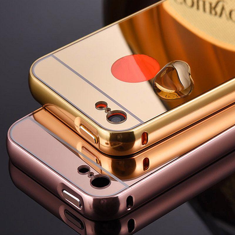 Luxury Metal Aluminum Frame + Mirror Acrylic Back Cover Case For Apple iPhone 5C Coque Capa Etui 160730 P15