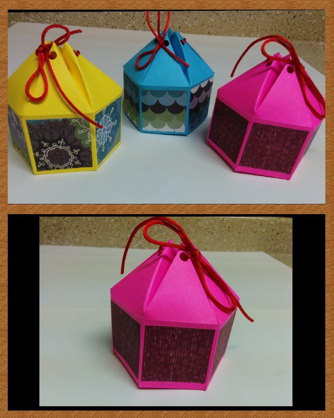 Arts and craft box - Art And Craft How To Make Hexagonal Gift Box