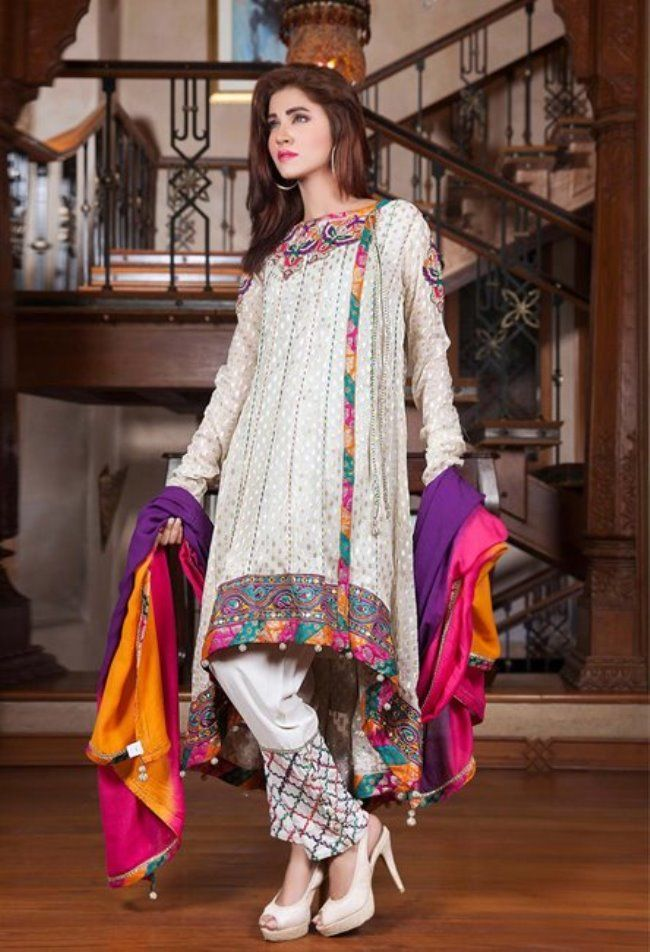 1ca86c65e3e5 Fancy Eid dresses 2017 for girls