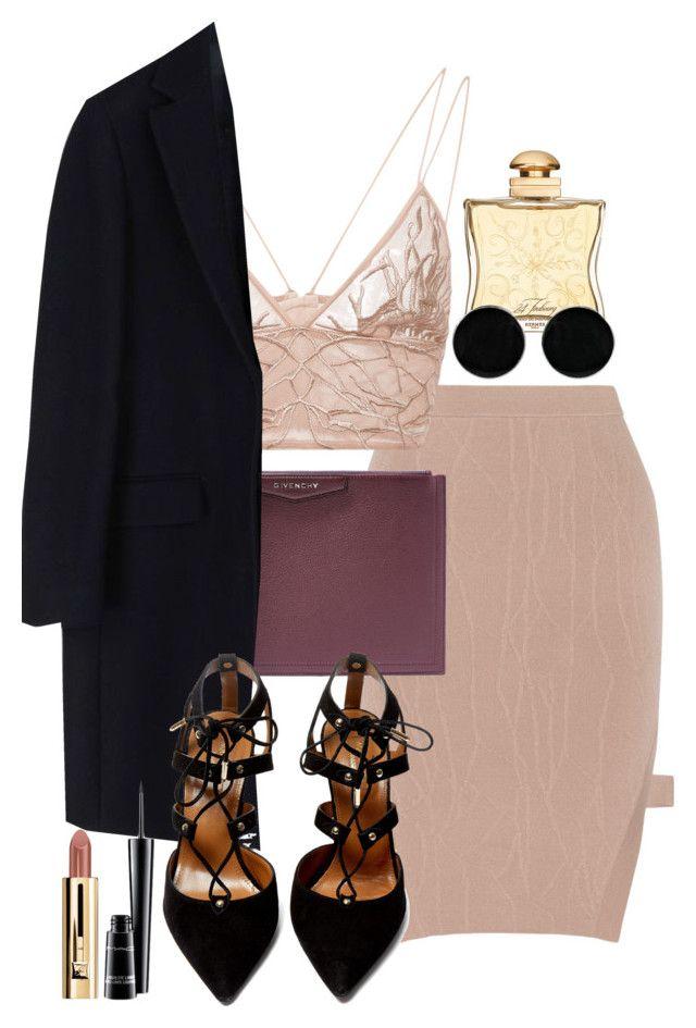 """Sans titre #769"" by sarahdiamonds ❤ liked on Polyvore featuring Jonathan Simkhai, Givenchy, MSGM, Hermès, Aquazzura, AeraVida and MAC Cosmetics"