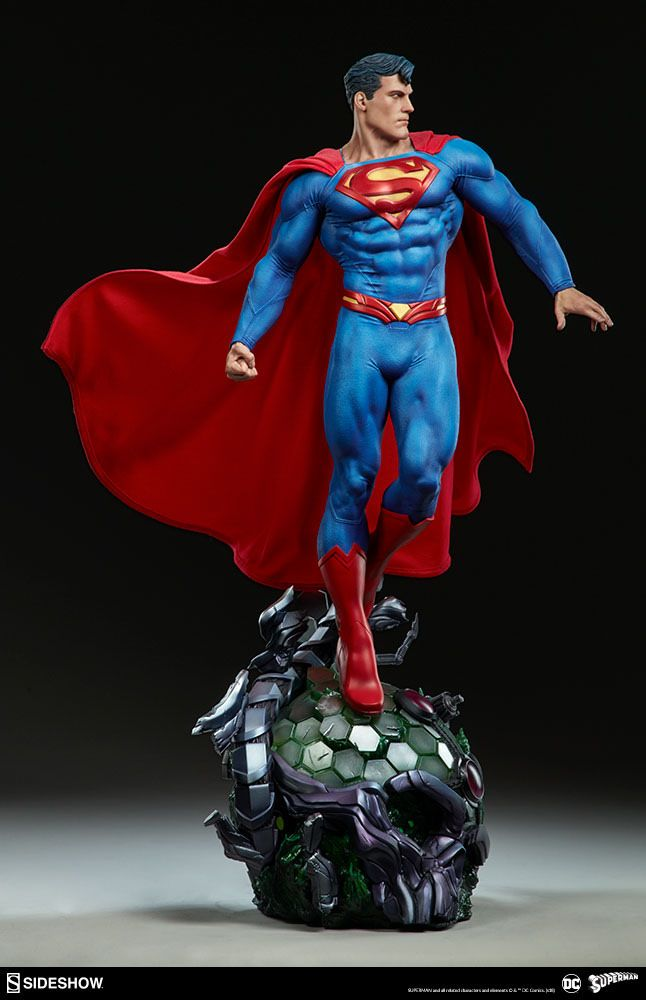無敵的鋼鐵之軀登場~! Sideshow Collectibles Premium Format Figure 系列 DC Comics【超人】Superman 1/4 比例全身雕像作品 ...