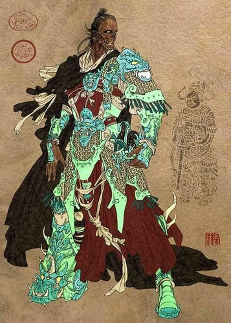 Qi Lang 七郎; Chinese History Heroic Yang Family's 7th Son. Yang family is known as loyal to the lord of Sun Dynasty and substitute the lord for dangerous trap invitation. Chi Long was shot over thousand arrows but he still have heart beat.