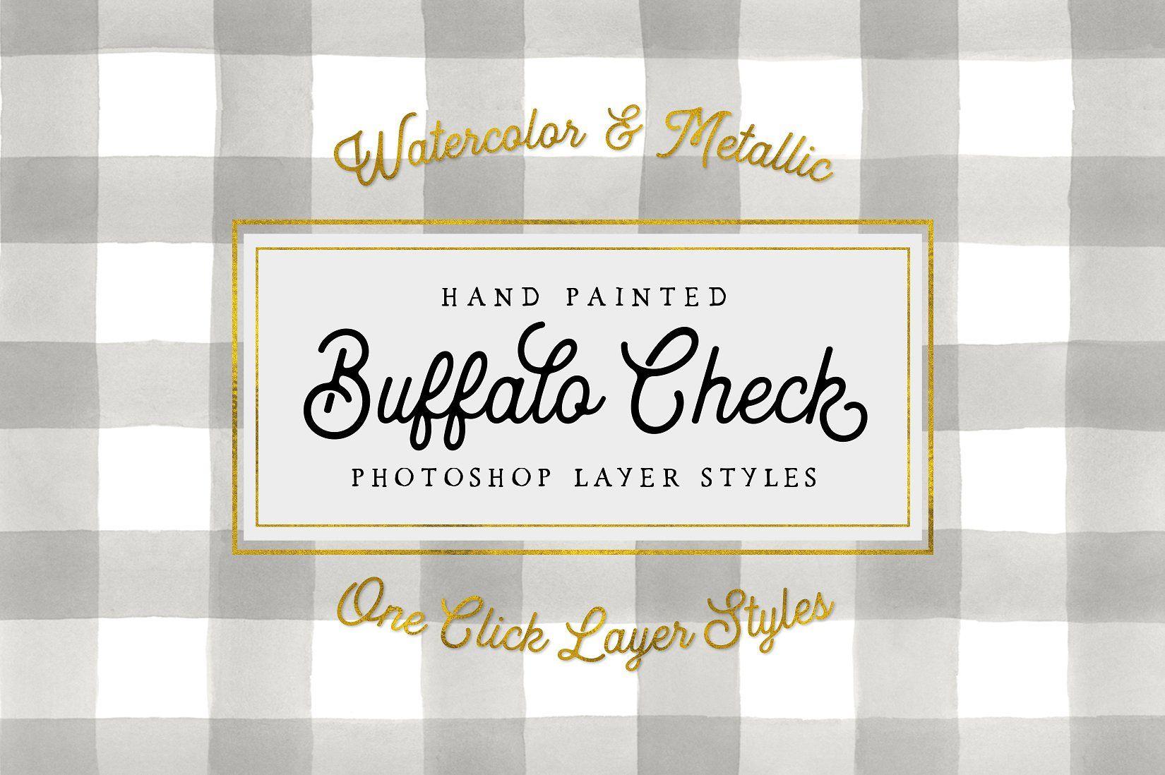 Buffalo check layer styles easyquicklovely