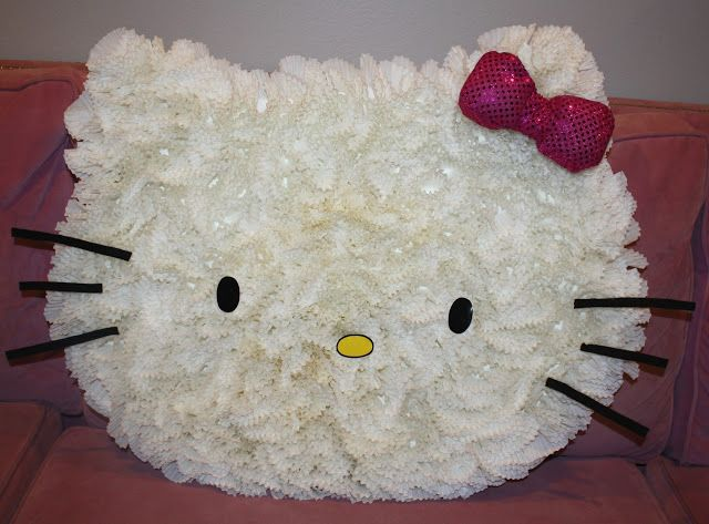 Miss Party Mom made this awesome Hello Kitty from cupcake liners! So cool!