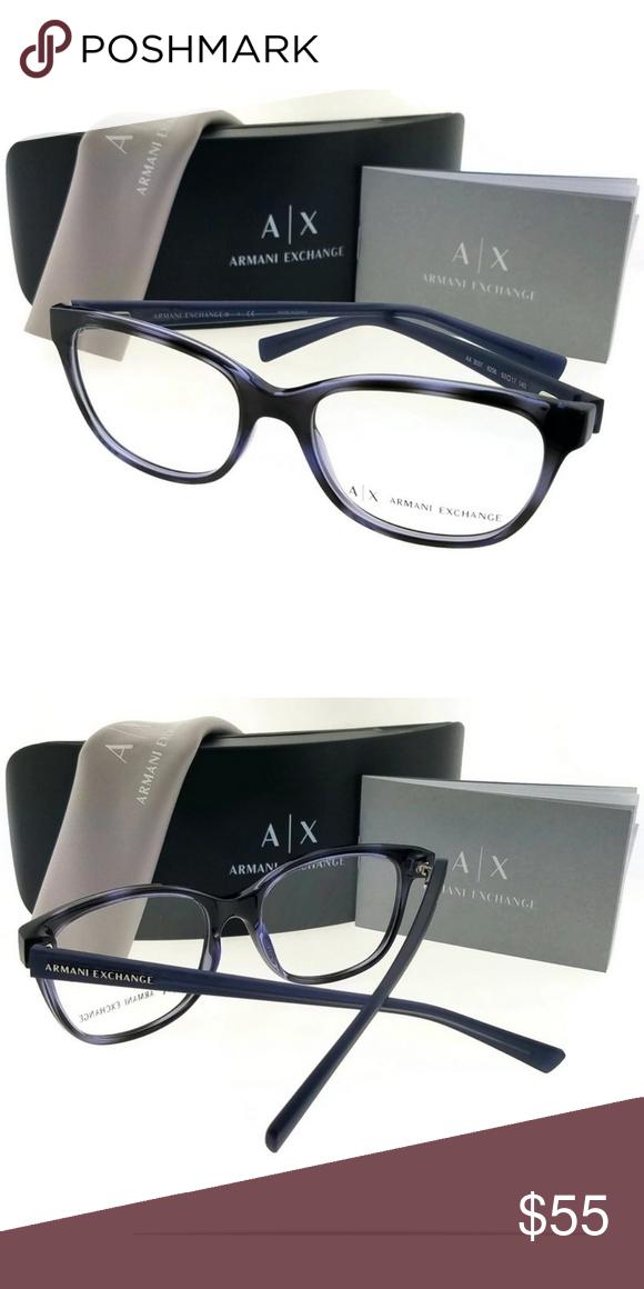 dd13c7ab0092 Armani Exchange AX3037-8206-53 Eyeglasses Armani Exchange AX3037-8206-53  unisex havana frame clear Lens 53mm genuine eyeglasses with stylish look.