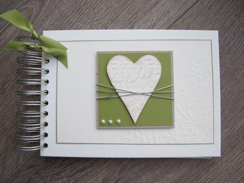 Album und Karte zur Hochzeit  Herzig  Karte hochzeit