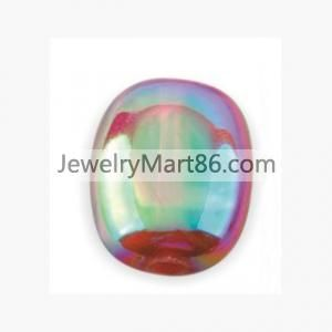 24*19mm,Wholesale double color plating acrylic beads AD-2536