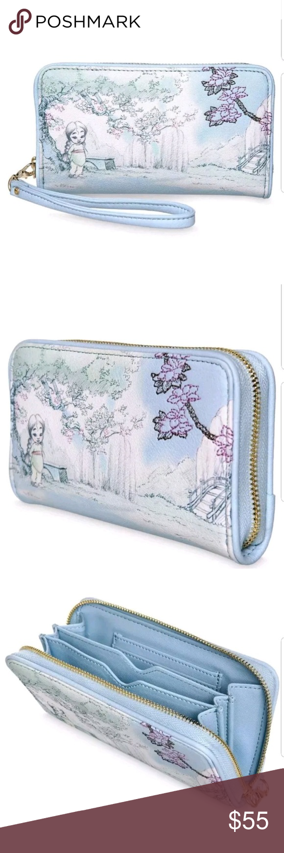 New With Tags Disney Cinderella Animator Wristlet Wallet