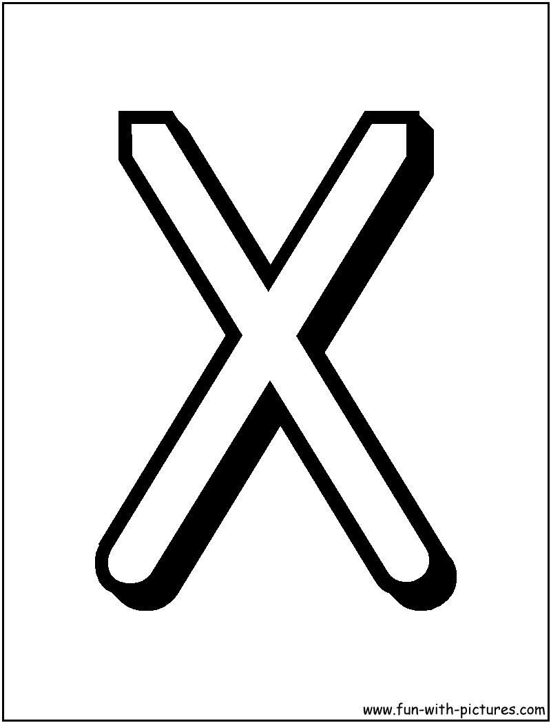 images of the letter x alphabet letters x coloring page