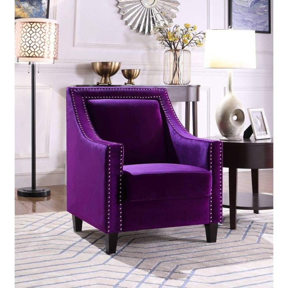 Kameron Accent Chair Purple Chic Home In 2020 Accent Chairs