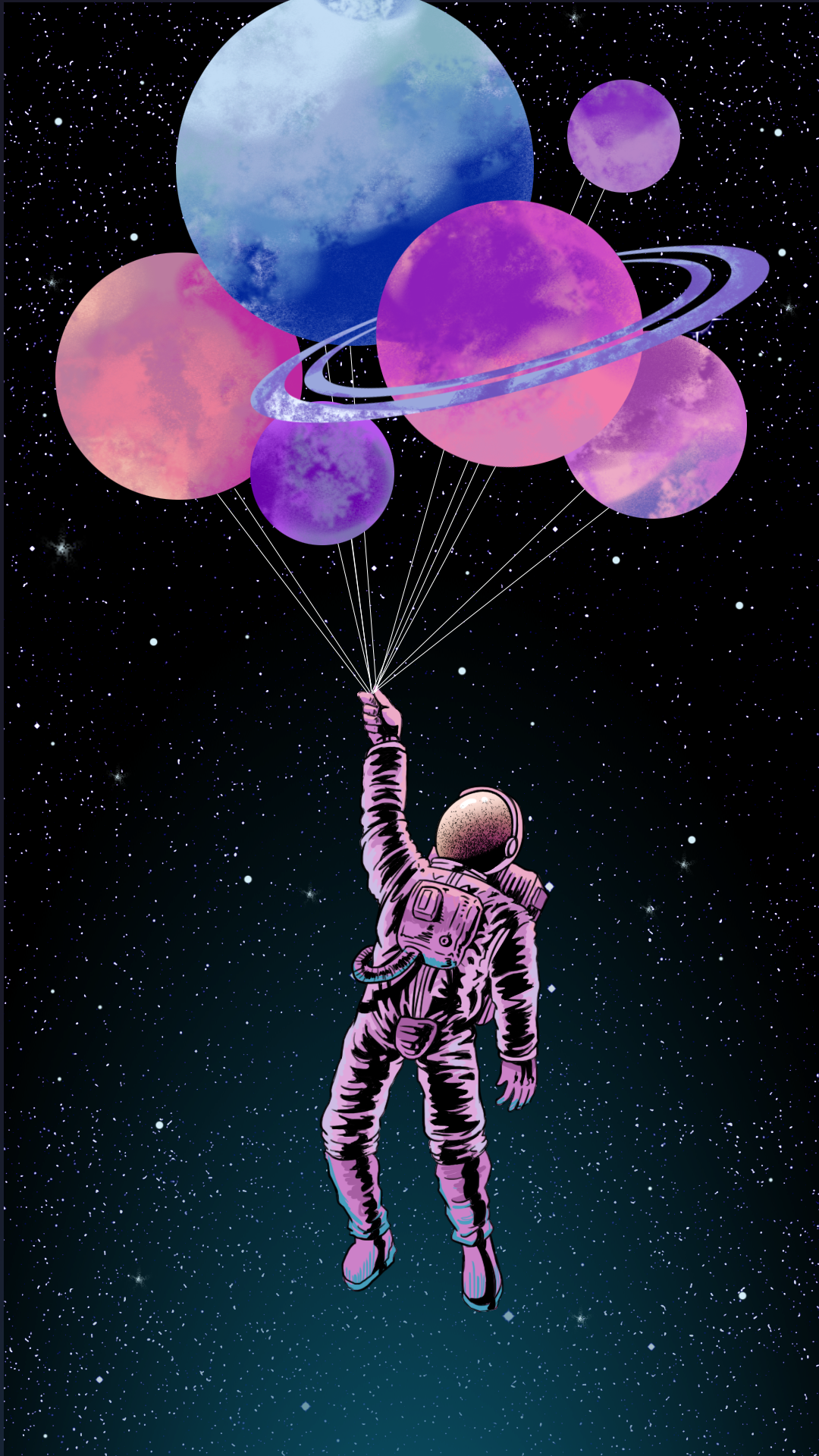 Balloon, Pink, Illustration, Graphic design, Sky, Organism