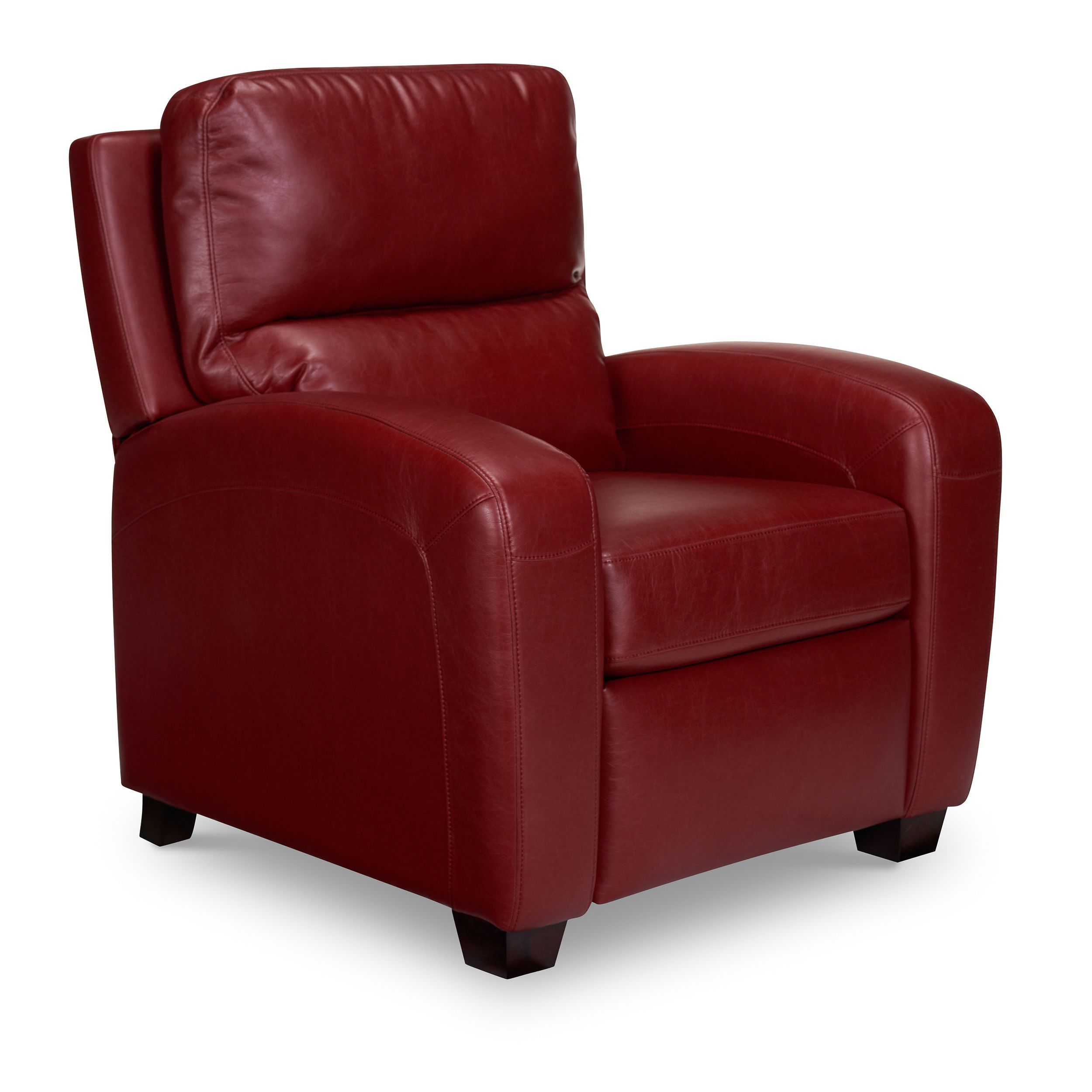 Opulence Home Brice Club Recliner (Harlee Dark Red) (Faux Leather)