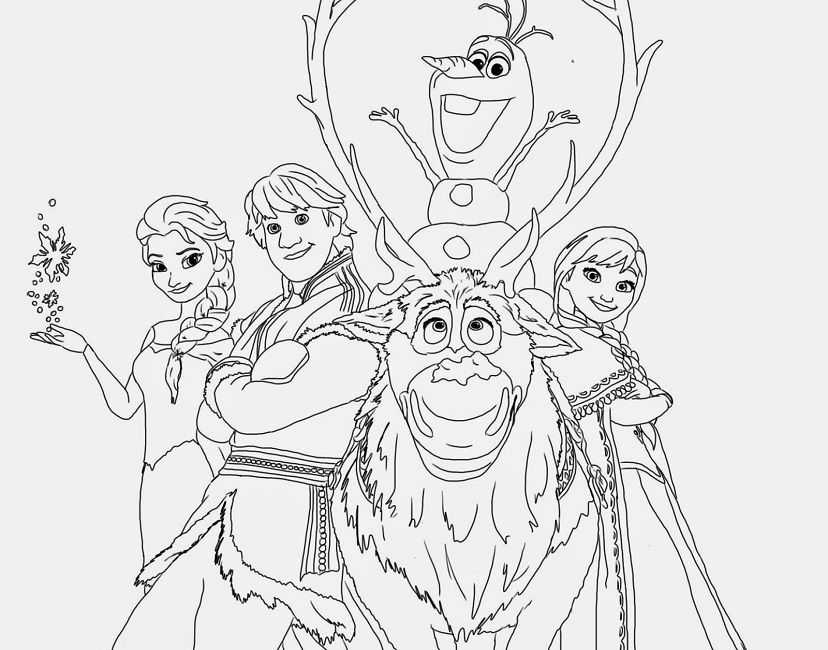frozen coloring pages that you can print | Disney | Pinterest