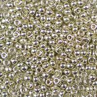 Galvanized Silver Glass Seed Beads 11 /0 Miyuki #1051 2mm  (Shiny Metallic Round Rocailles) UK Seller
