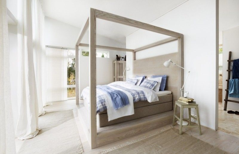 modern canopy bed on platform & 20 Modern Canopy Bed Ideas For Your Bedroom | Modern canopy bed ...