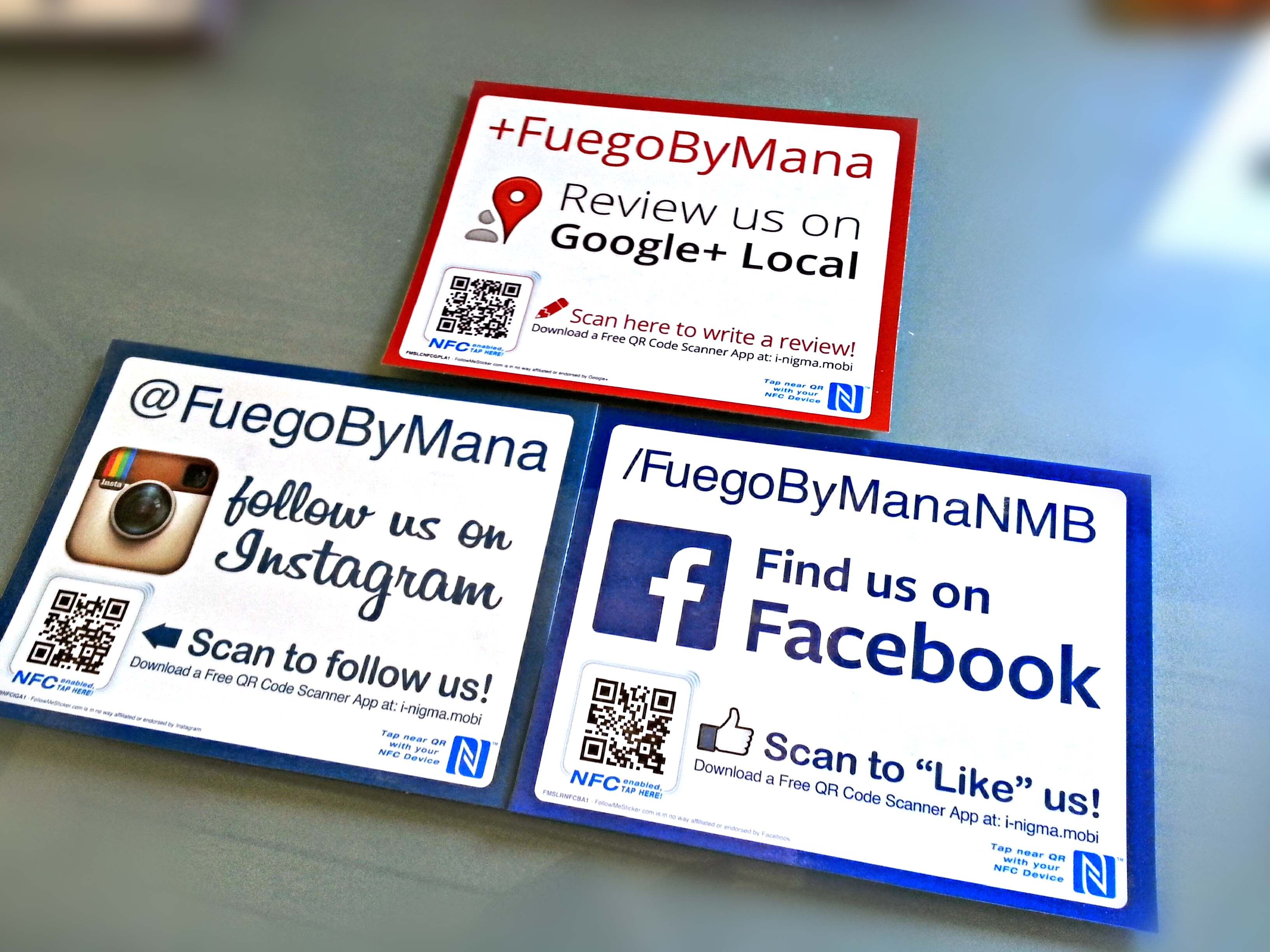 Large stickers for instagram google local and facebook with qr large stickers for instagram google local and facebook with qr codes and nfc zone magicingreecefo Gallery