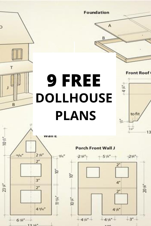 9 FREE Dollhouse Plans