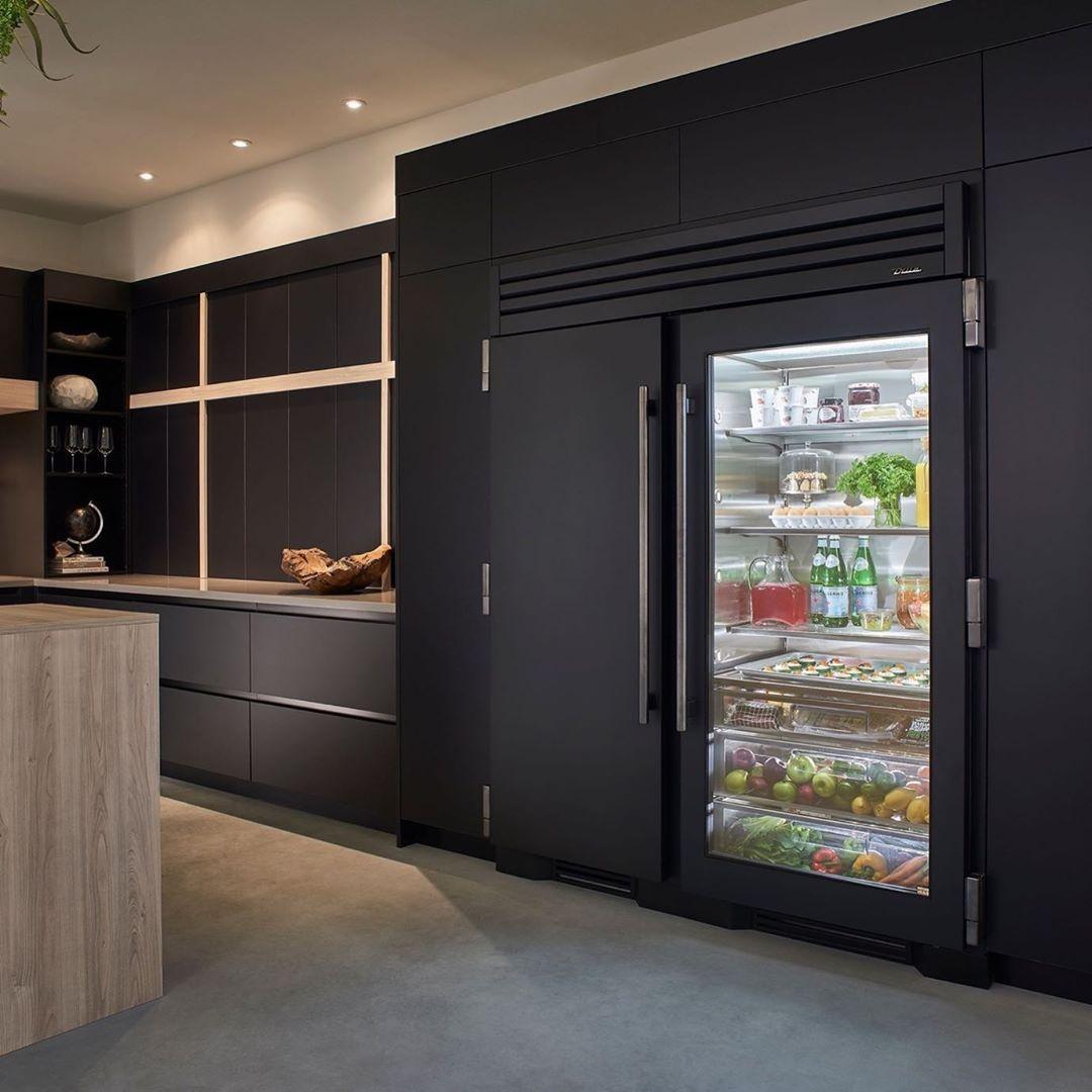 True Residential On Instagram Our Version Of Blackfriday A Custom Ultra Matte Black Refrigera In 2020 Black Refrigerator Luxury Kitchen Design Luxury Refrigerator