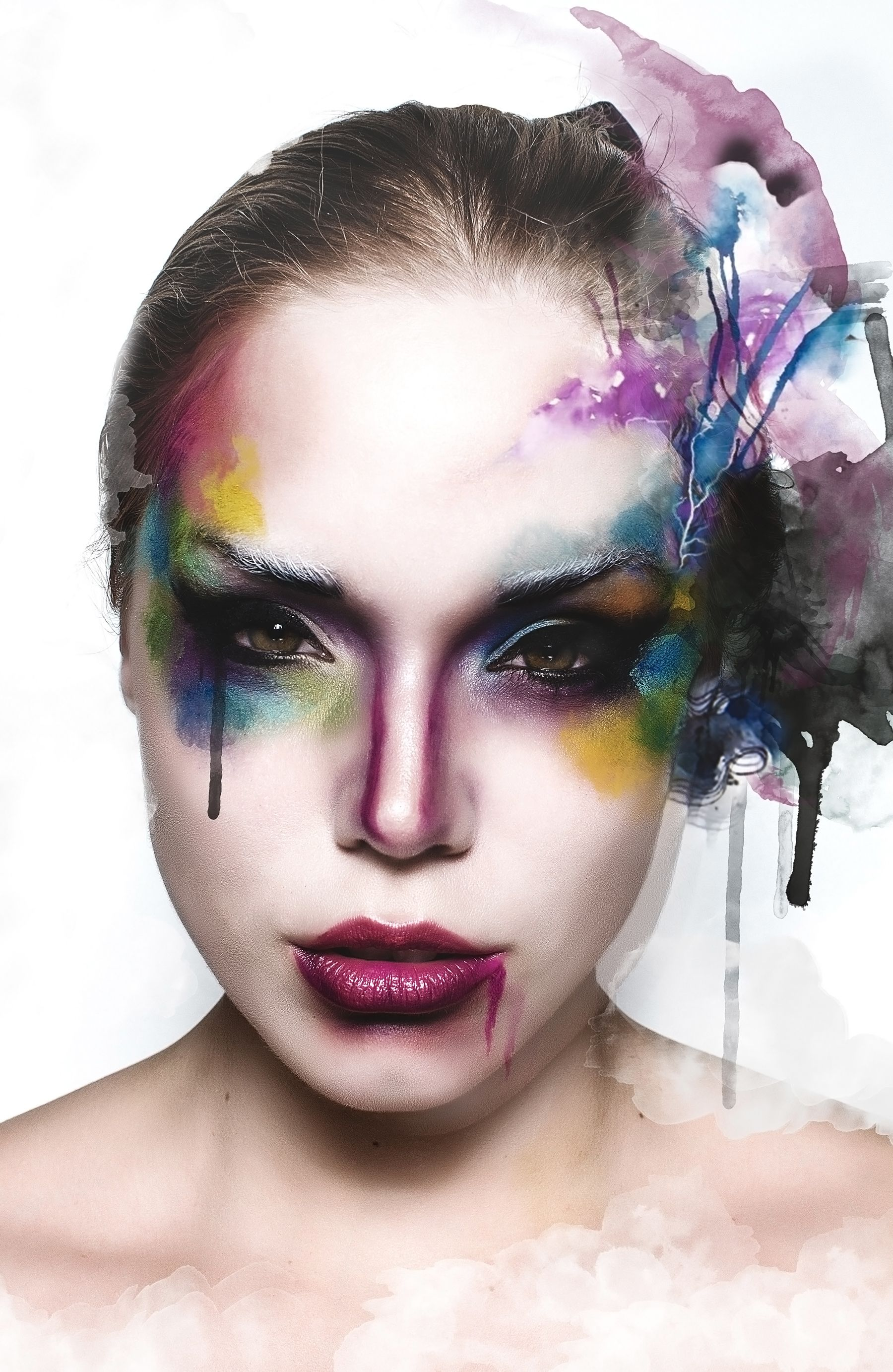 Artistic Director : Line Vanille Photography & Editing : http://500px.com/M-W Makeup artist : Marika D'Auteuil Artiste Maquilleure Models: Gabryela Vogua & Gabrielle Cosentino (Maven Management) This editorial is a tribute to watercolour artwork created by Artist Agnes Cecile.