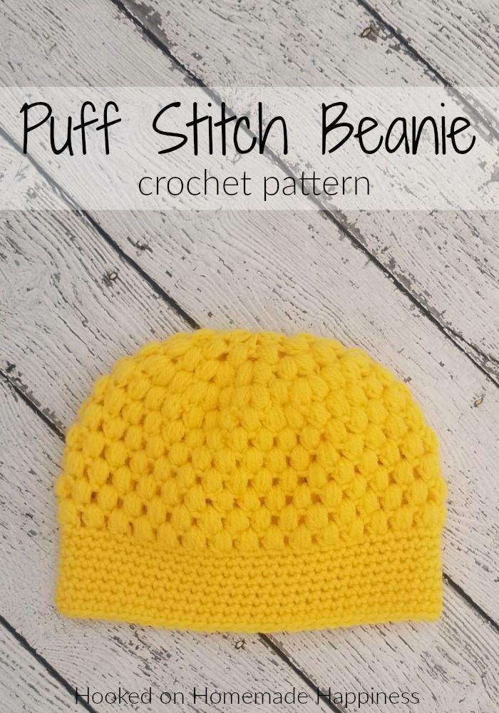 puff stitch beanie crochet pattern crochet along for a cause crochet patterns tutorials pinterest - Hakelmutzen Muster
