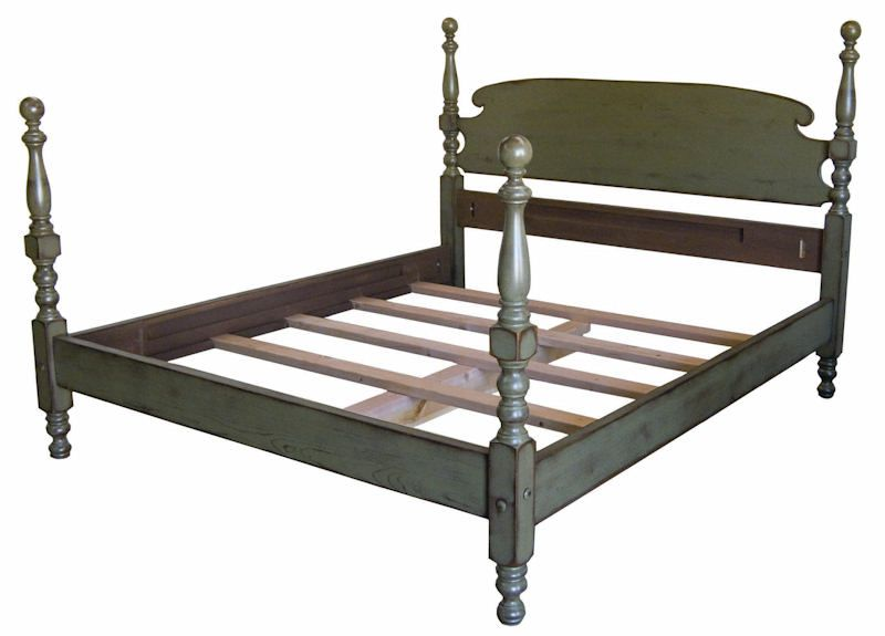 New Haven Painted Tall Cannonball Bed | Furniture Upcycling ...