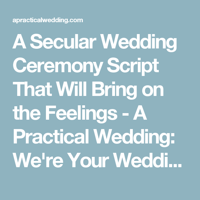 Beautiful Wedding Ceremony Script Examples