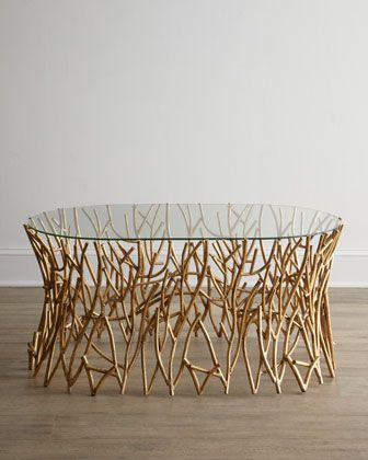 Golden Branches Coffee Table
