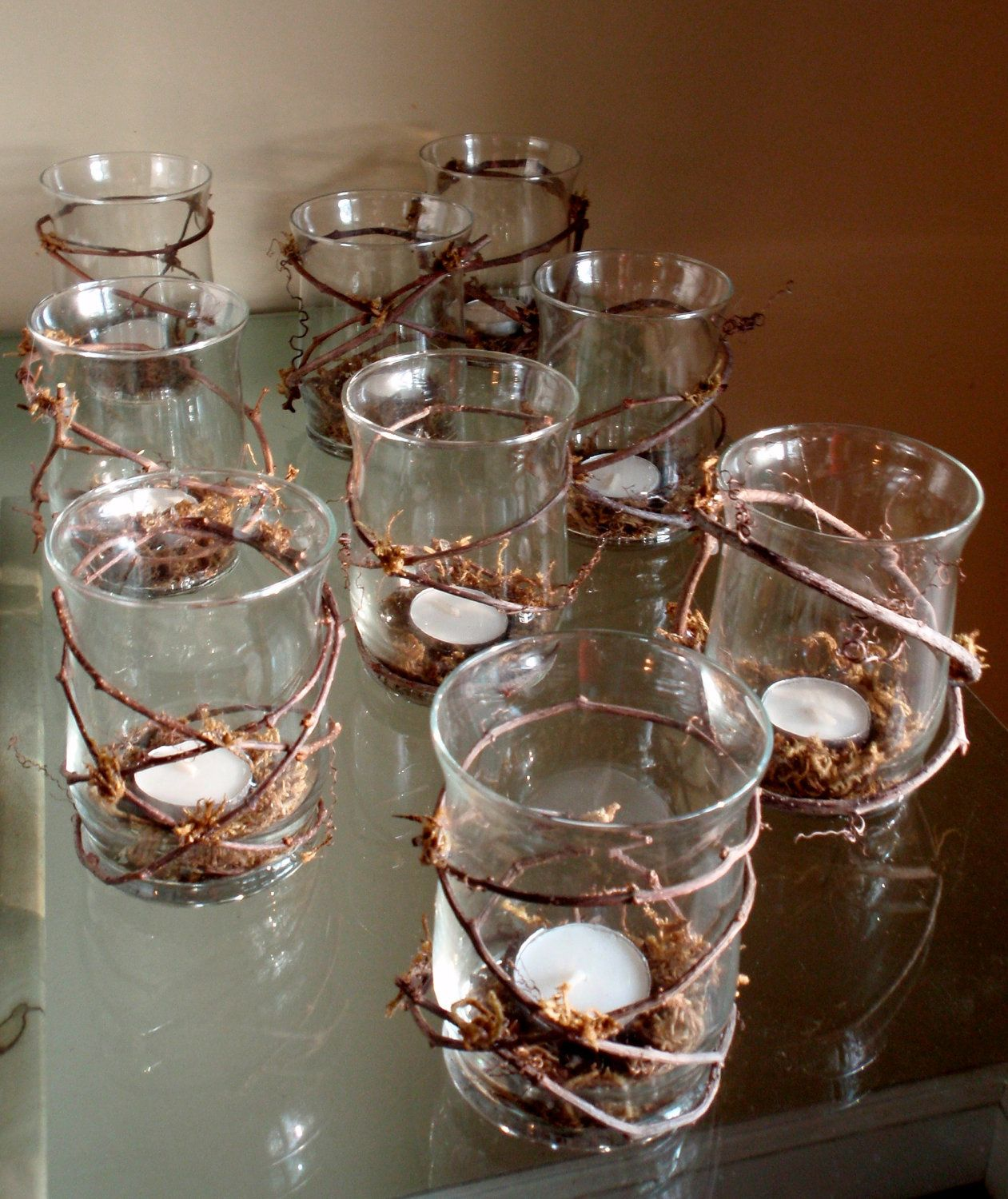 Classy Camo Wedding Ideas: Rustic Wedding Decor Winding Grapevine Candle Holder With