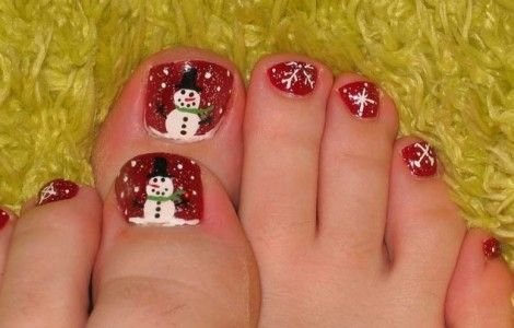 christmas toe nail designs - Christmas Toe Nail Designs Nail Designs Pinterest Christmas