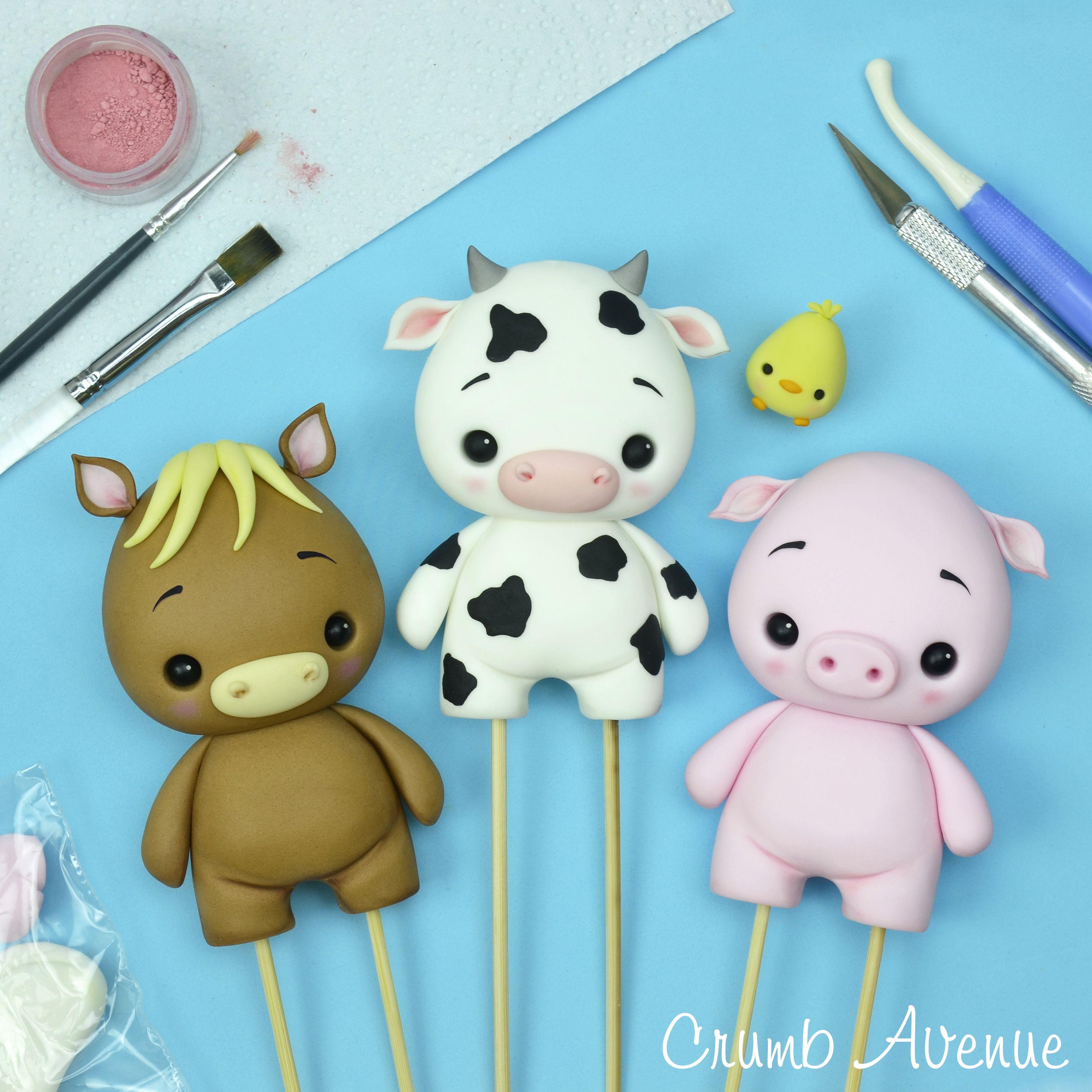 Baby Cow Fondant cake topper