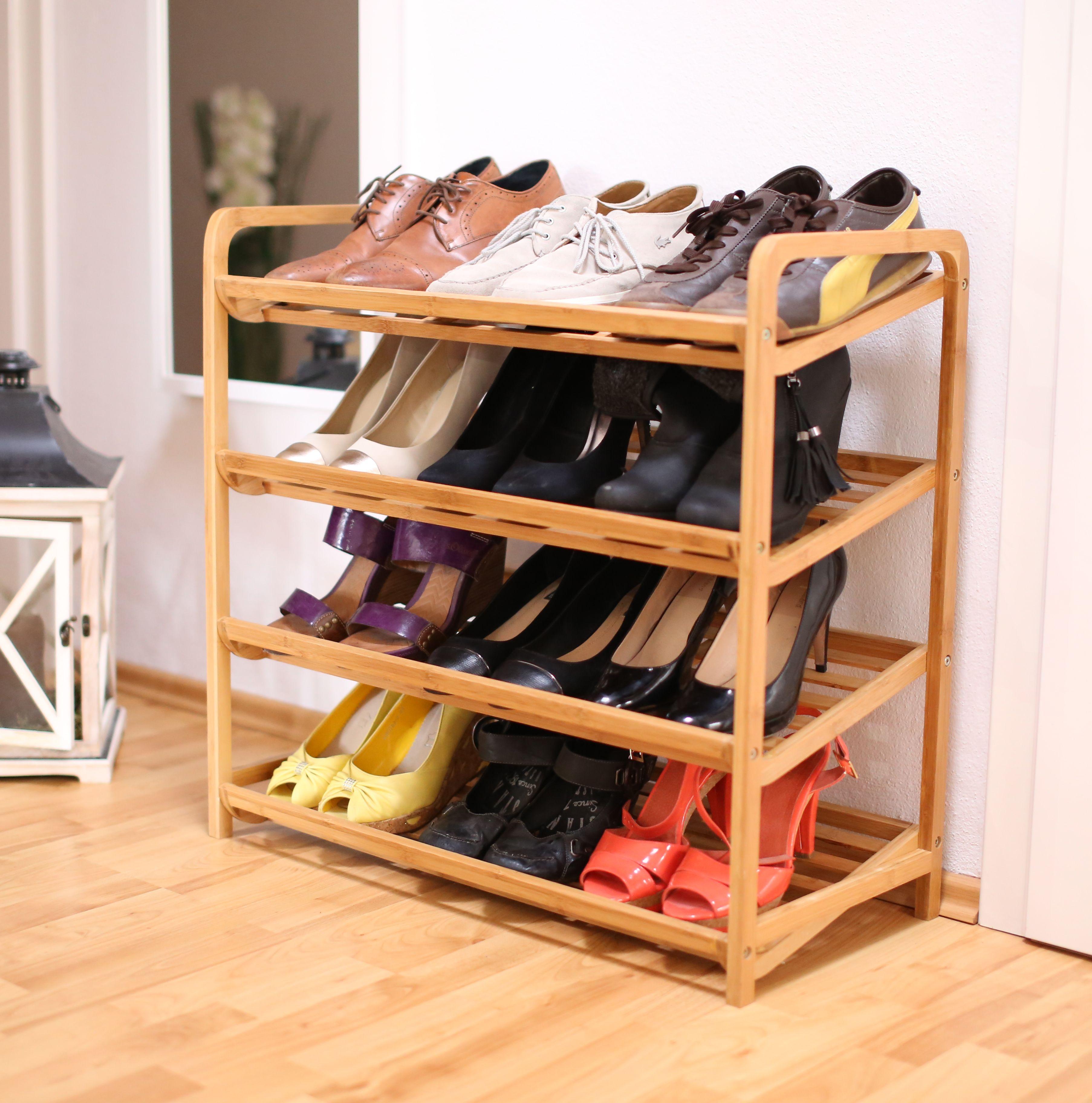 Holt Euch Das Robuste Schuhregal Aus Bambus Fur 12 Paar Schuhe