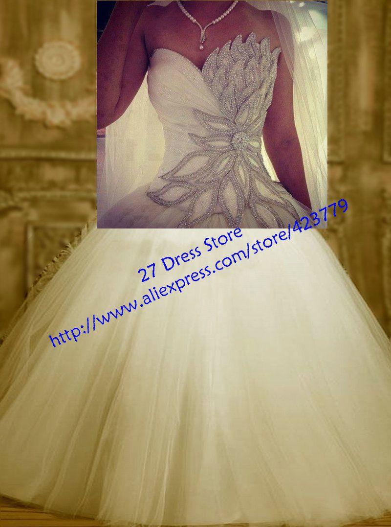 Aliexpress.com: Comprar Nuevo llegada 2014 Sweetheart boda vestido ...