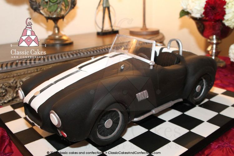 Shelby cobra car cake For Him Pinterest Car cakes Cake and