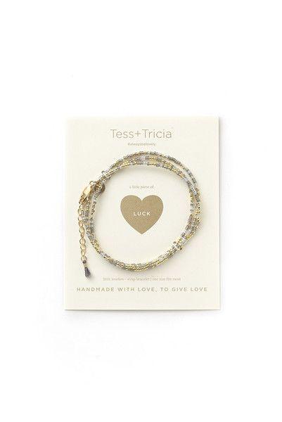 """""""Luck"""" Little Lovelies Triple Wrap Bracelet"""