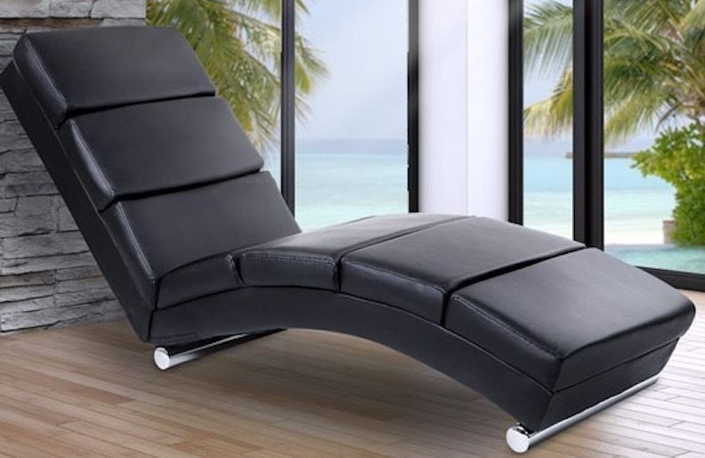 Sofa Lounger Leisure Settee Padded Faux Leather Relax